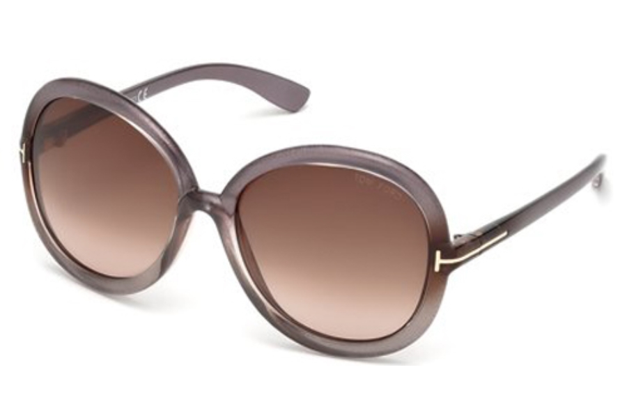 Tom Ford FT0276 CANDICE Sunglasses in 74Z Pink /Other / Gradient Or Mirror Violet