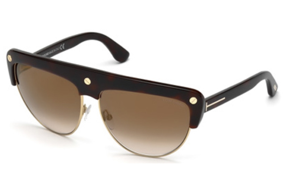Tom Ford FT0318 Sunglasses in 52G Dark Havana / Brown Mirror