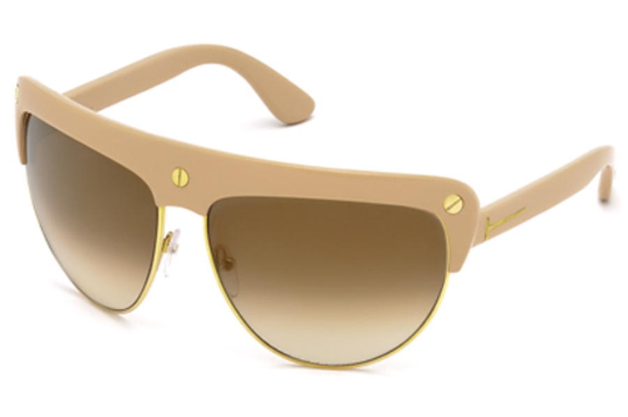 Tom Ford FT0318 Sunglasses in 72L Shiny Pink / Roviex Mirror