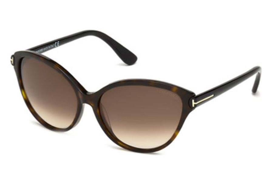 Tom Ford FT0342 Sunglasses in 56F Havana/Other / Gradient Brown