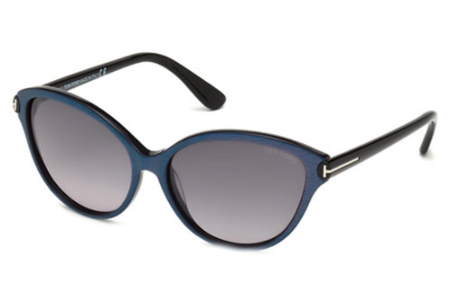 Tom Ford FT0342 Sunglasses in 83F Violet/Other / Gradient Brown