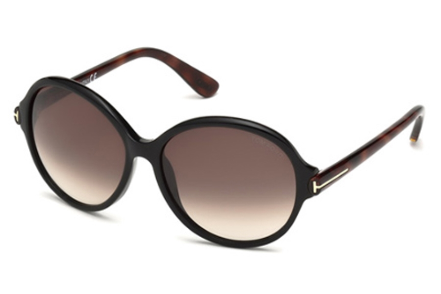 Tom Ford FT0343 Sunglasses in 05B Black/Other / Gradient Smoke