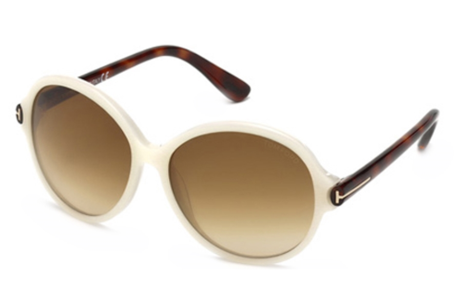 Tom Ford FT0343 Sunglasses in 20F Grey/Other / Gradient Brown