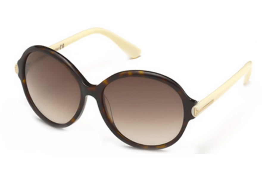 Tom Ford FT0343 Sunglasses in 56F Havana/Other / Gradient Brown