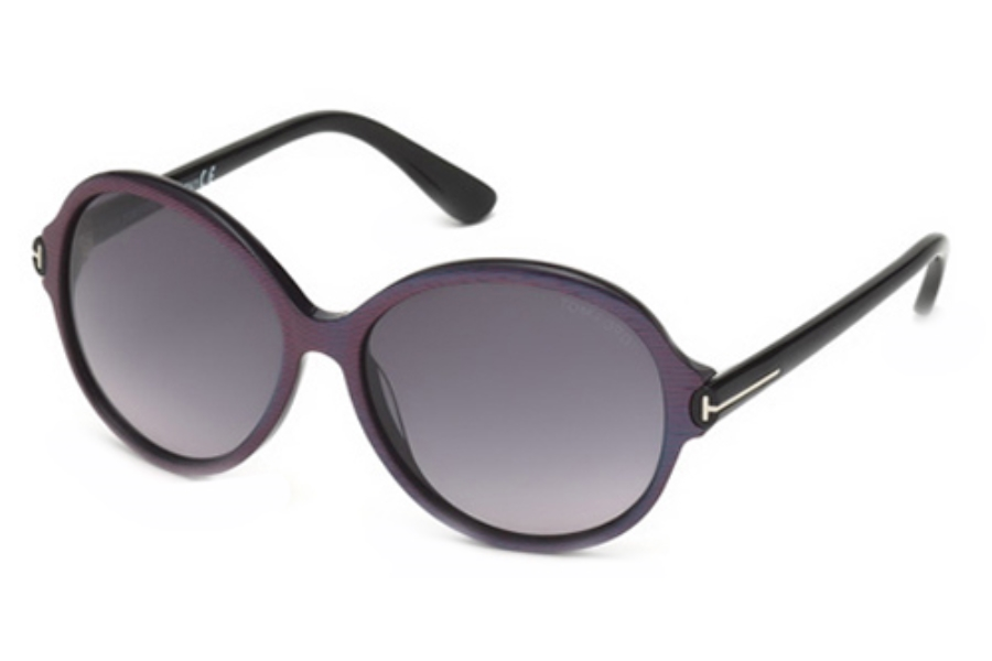 Tom Ford FT0343 Sunglasses in 83F Violet/Other / Gradient Brown