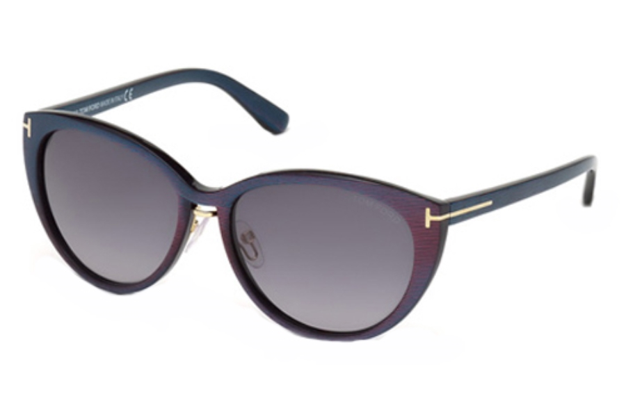 Tom Ford FT0345 Sunglasses in 83F Violet/Other / Gradient Brown
