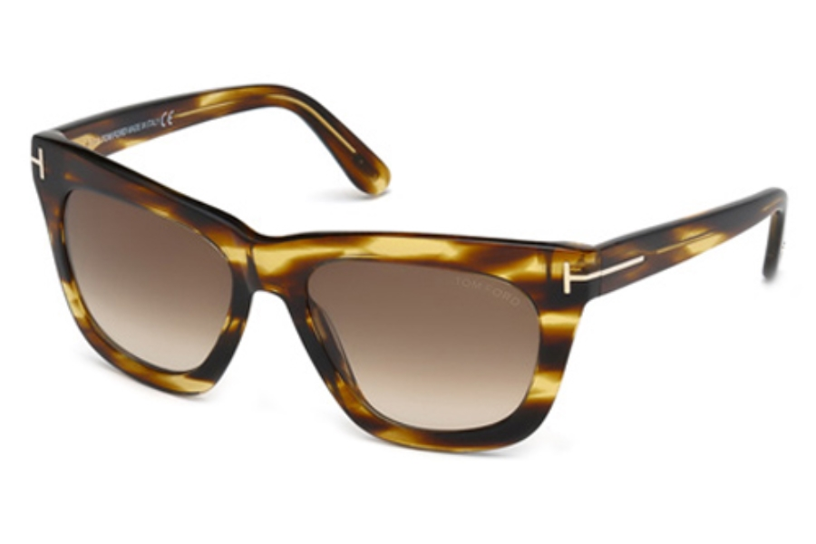 Tom Ford FT0361-F Sunglasses in 50F Dark Brown/Other/Gradient Brown