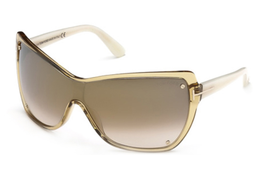 Tom Ford FT0363 Sunglasses in 41G Yellow/Other/Brown Mirror