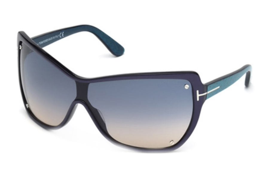 Tom Ford FT0363 Sunglasses in 86U Light Blue/Other/Bordeaux Mirror