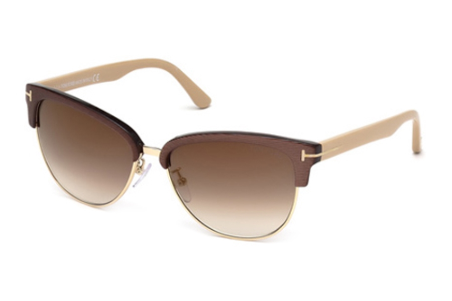 Tom Ford FT0368 Fany Sunglasses in 50G Dark Brown/Other/Brown Mirror