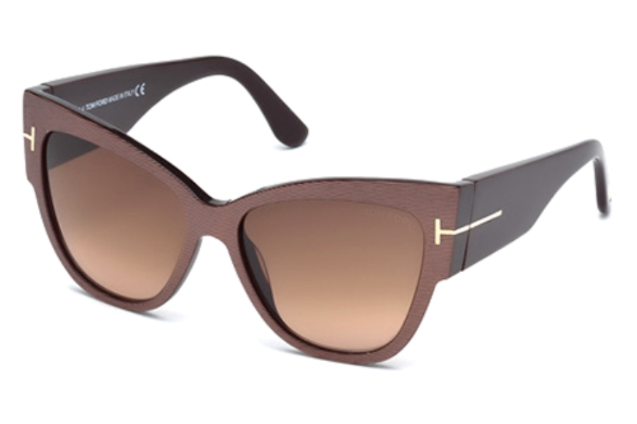 Tom Ford FT0371-F Sunglasses in 50F Dark Brown/Other/Gradient Brown