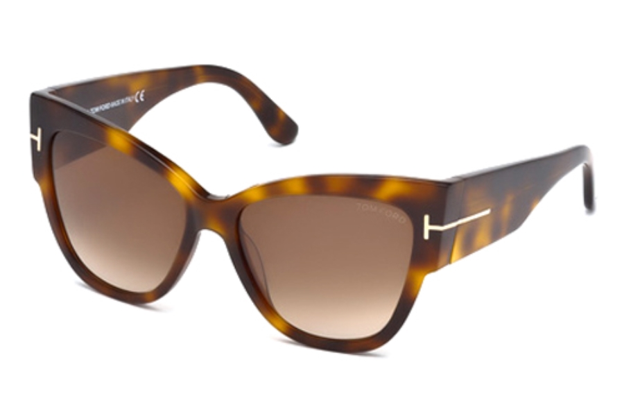 Tom Ford FT0371-F Sunglasses in 53F Blonde Havana/Gradient Brown