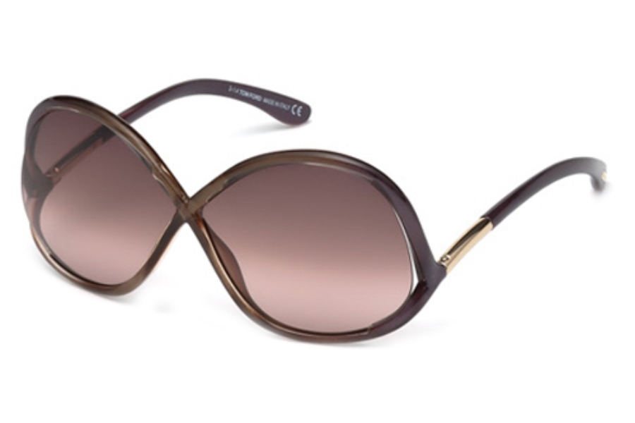 Tom Ford FT0372 Sunglasses in 69Z Shiny Bordeaux/Gradient