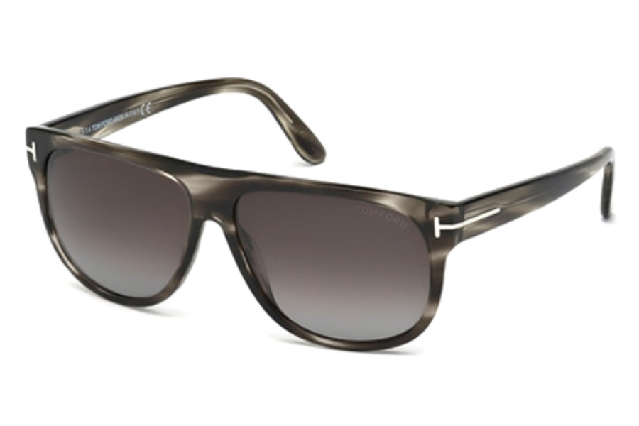 Tom Ford FT0375 Sunglasses in 05R Black/Other/Green Polarized
