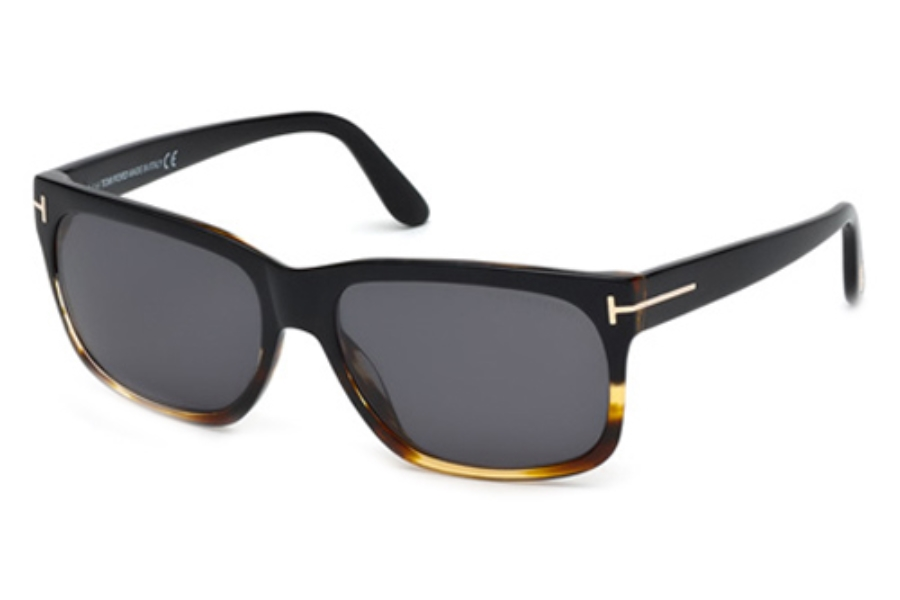 Tom Ford FT0376 Sunglasses in 05D Black/Other/Smoke Polarized