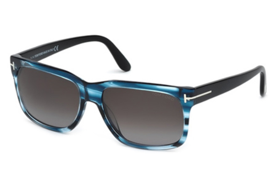 Tom Ford FT0376 Sunglasses in 90B Shiny Blue/Gradient Smoke