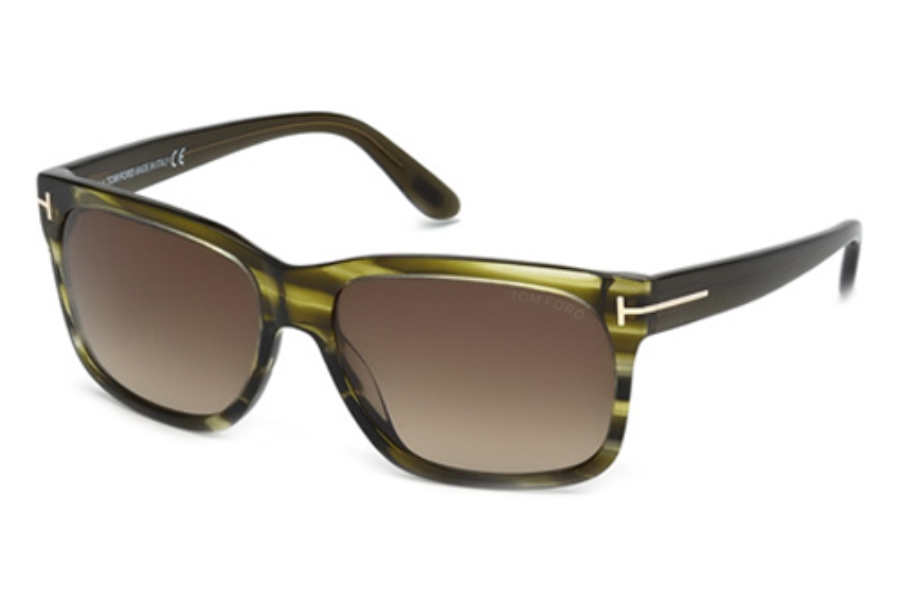 Tom Ford FT0376 Sunglasses in 98K Dark Green/Other/Gradient Roviex