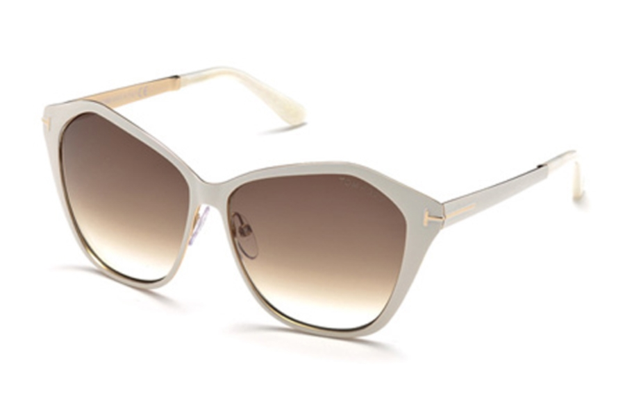 Tom Ford FT0391 Sunglasses in 25F - Ivory / Gradient Brown