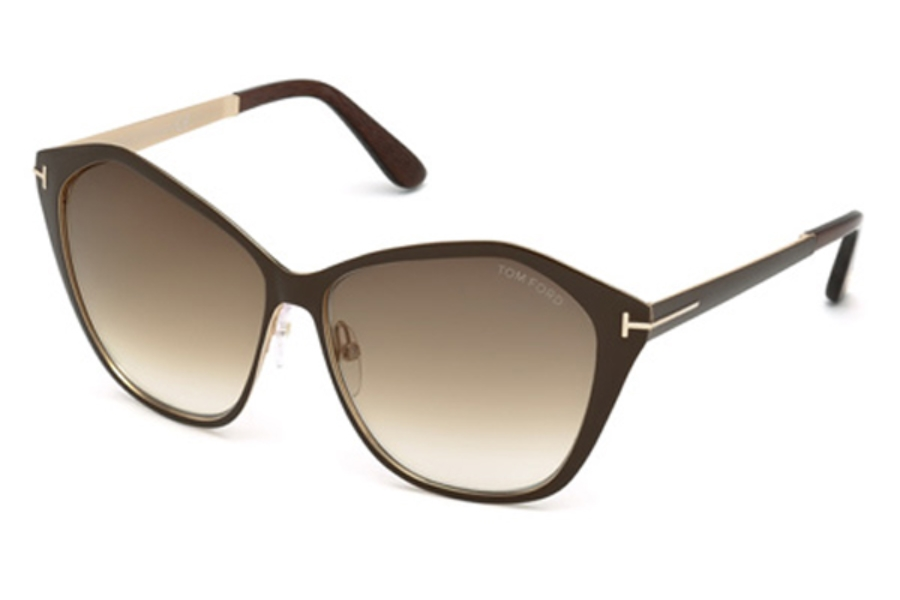 Tom Ford FT0391 Sunglasses in 48F - Shiny Dark Brown / Gradient Brown