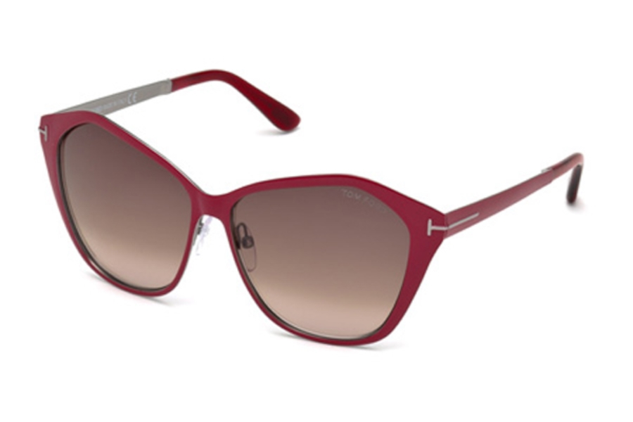 Tom Ford FT0391 Sunglasses in 69Z - Shiny Bordeaux / Gradient