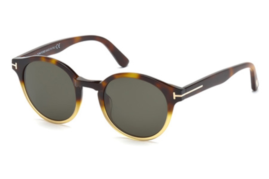 Tom Ford FT0400 Lucho Sunglasses in 58N - Matte Beige / Green
