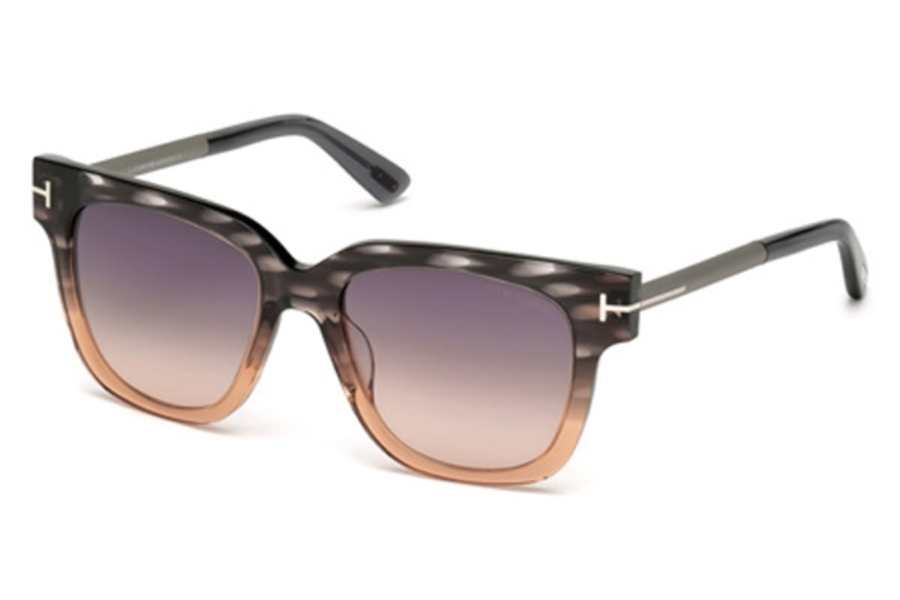 Tom Ford FT0436 Tracy Sunglasses in 20B - Grey/Other / Gradient Smoke