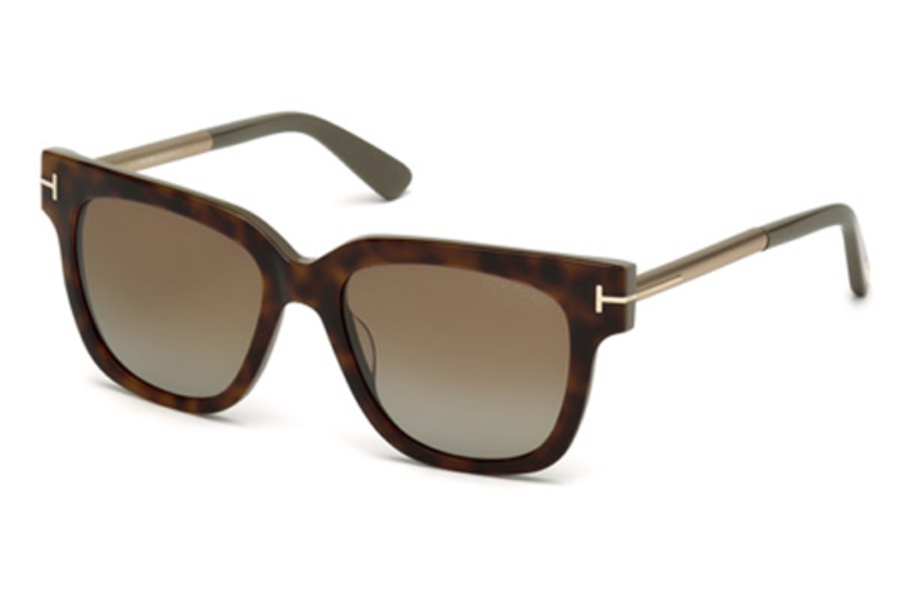Tom Ford FT0436 Tracy Sunglasses in 56H - Havana/Other / Brown Polarized