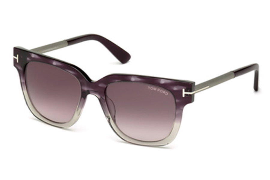 Tom Ford FT0436 Tracy Sunglasses in 83T - Violet/Other / Gradient Bordeaux