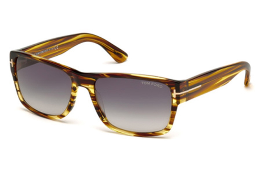 Tom Ford FT0445 Mason Sunglasses in 50B - Dark Brown/Other / Gradient Smoke