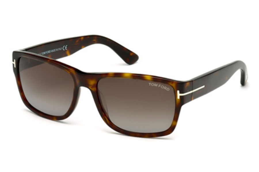 Tom Ford FT0445 Mason Sunglasses in 52B - Dark Havana / Gradient Smoke
