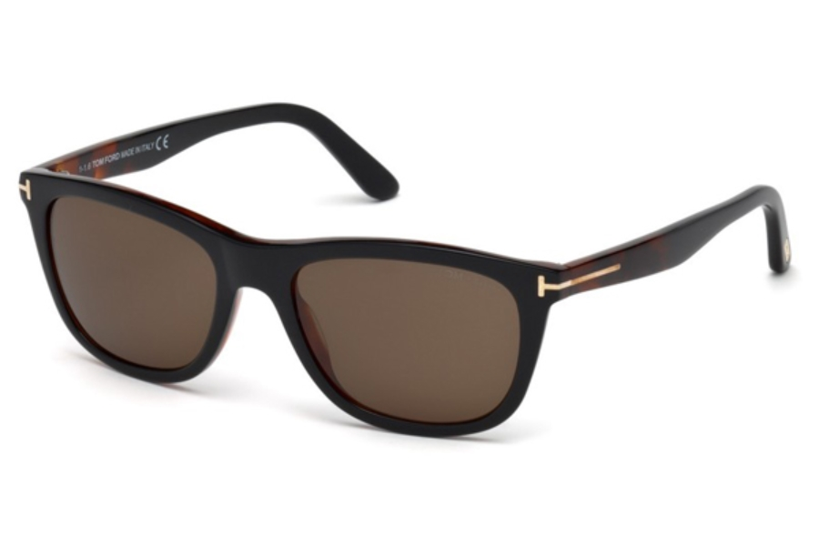 Tom Ford FT0500 Andrew Sunglasses in 05J - Black/Other / Roviex