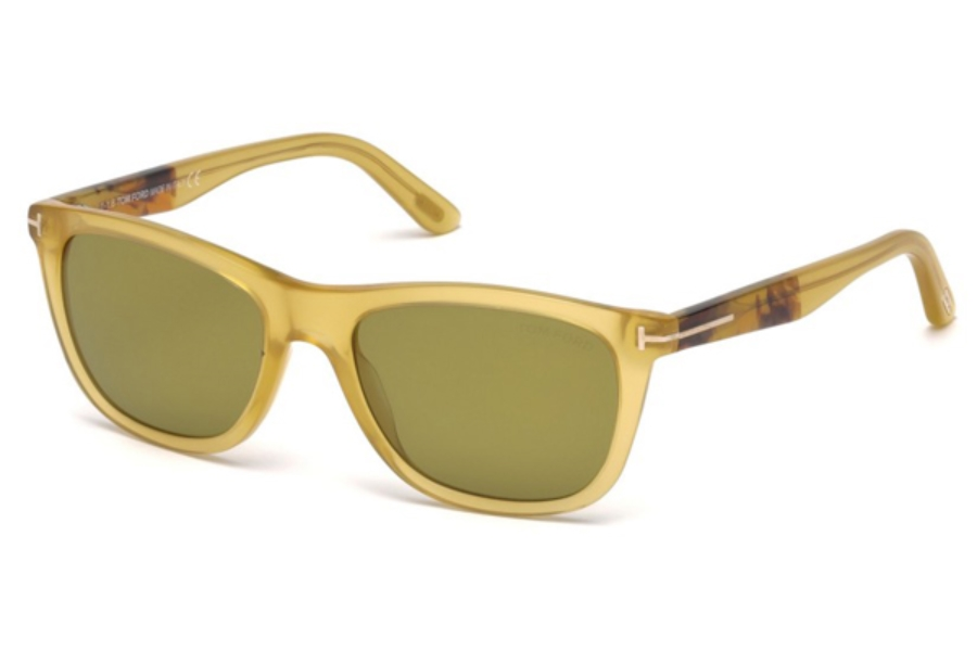Tom Ford FT0500 Andrew Sunglasses in 41N - Yellow/Other / Green