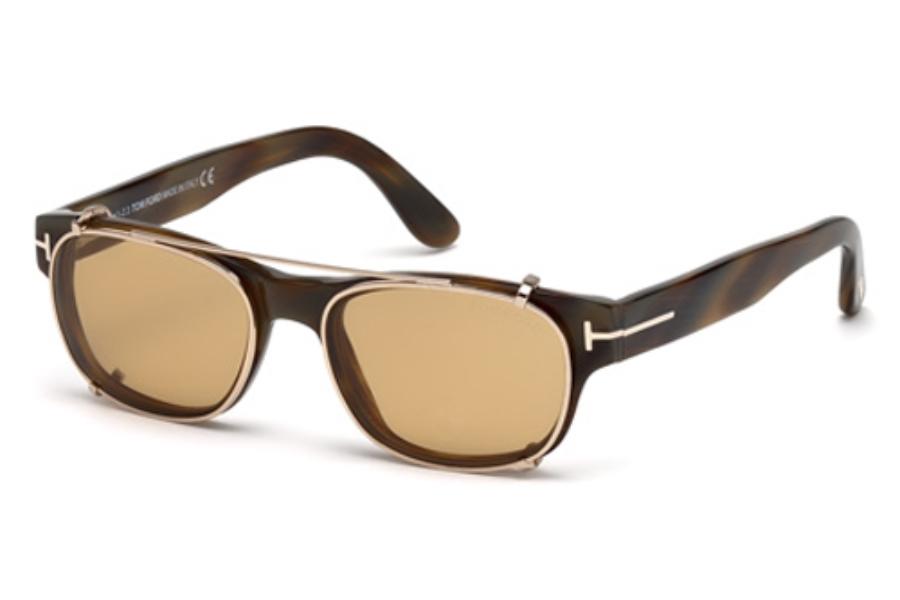 05c43b00f7 Tom Ford FT5276 W  Clip ons Eyeglasses in 62J Brown Horn   Roviex ...