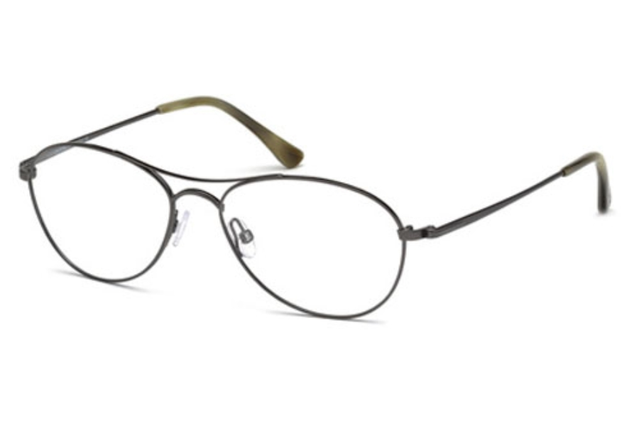 Tom Ford FT5330 Eyeglasses in 012 Shiny Dark Ruthenium