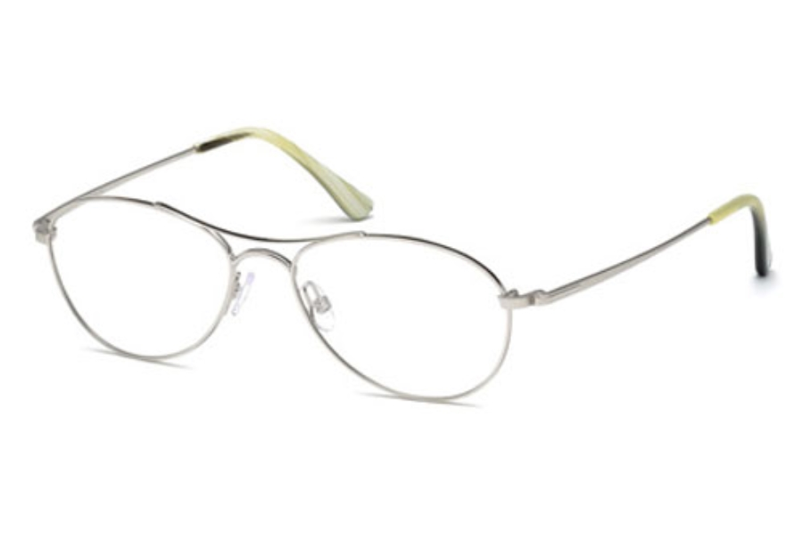 Tom Ford FT5330 Eyeglasses in 018 Shiny Rhodium