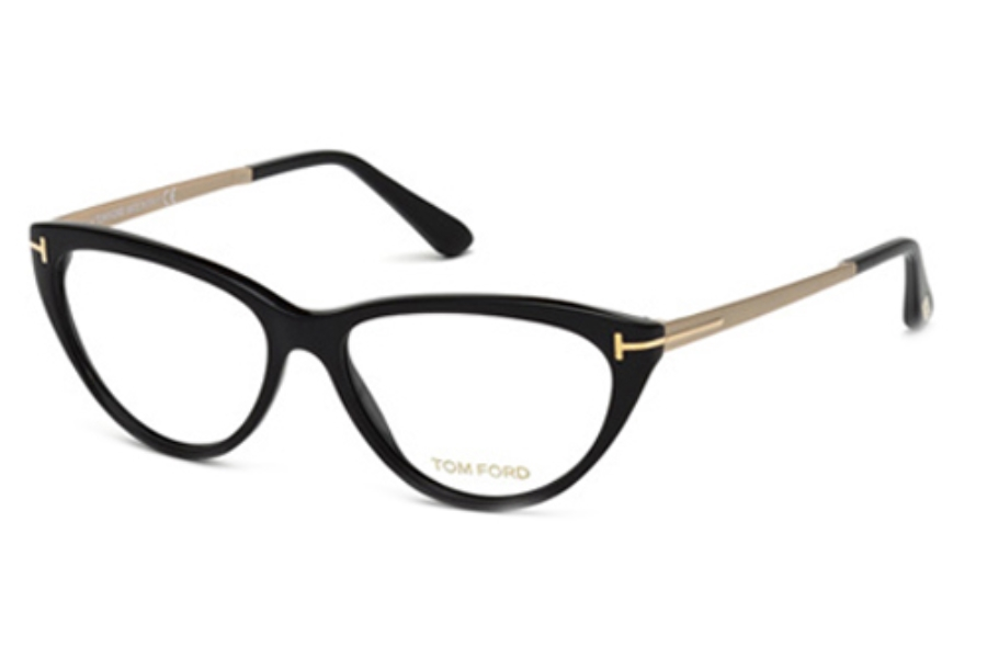 Tom Ford FT5354 Eyeglasses in 001 Shiny Black
