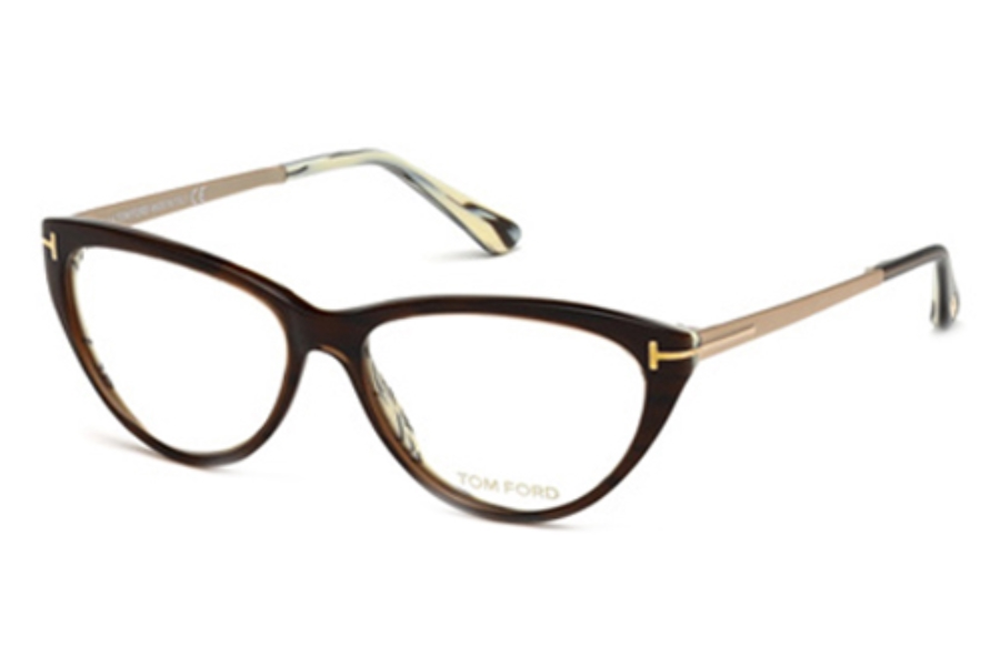 Tom Ford FT5354 Eyeglasses in 050 Dark Brown/Other