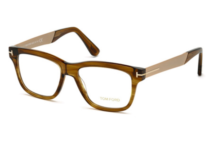 Tom Ford FT5372 Eyeglasses in 048 - Shiny Dark Brown
