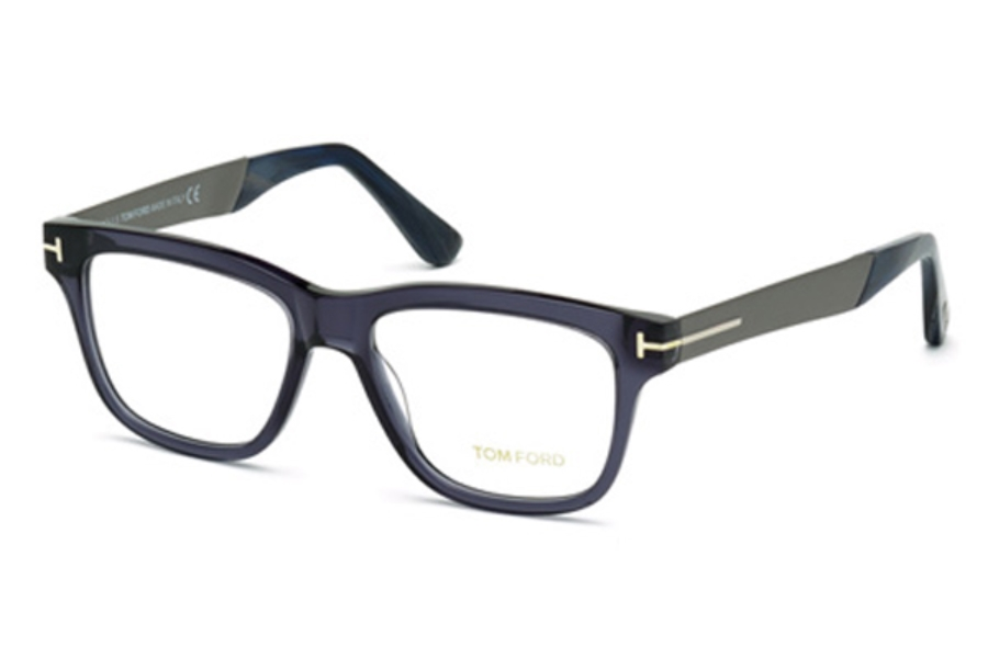Tom Ford FT5372 Eyeglasses in 090 - Shiny Blue