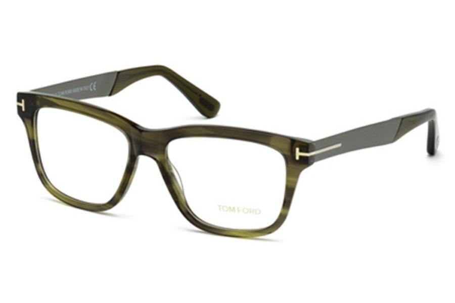 Tom Ford FT5372 Eyeglasses in 098 - Dark Green/Other