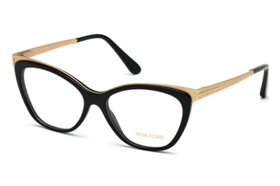 Tom Ford FT5374 Eyeglasses in 001 - Shiny Black