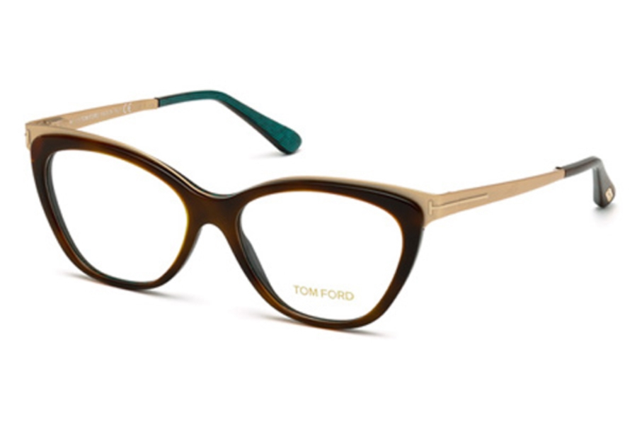 Tom Ford FT5374 Eyeglasses in 052 - Dark Havana