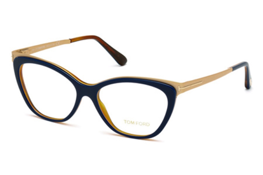 Tom Ford FT5374 Eyeglasses in 090 - Shiny Blue