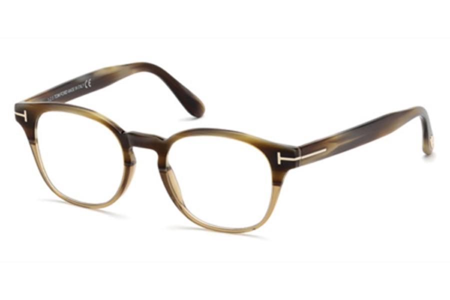 Tom Ford FT5400 Eyeglasses in 65A - Horn/Other / Smoke