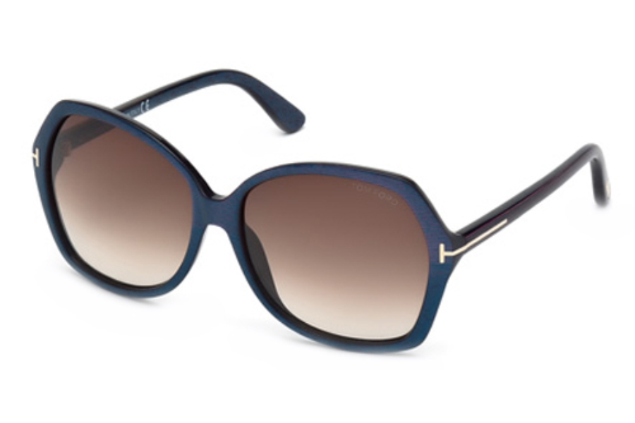 Tom Ford FT9328 Sunglasses in 83F Violet/Other / Gradient Brown