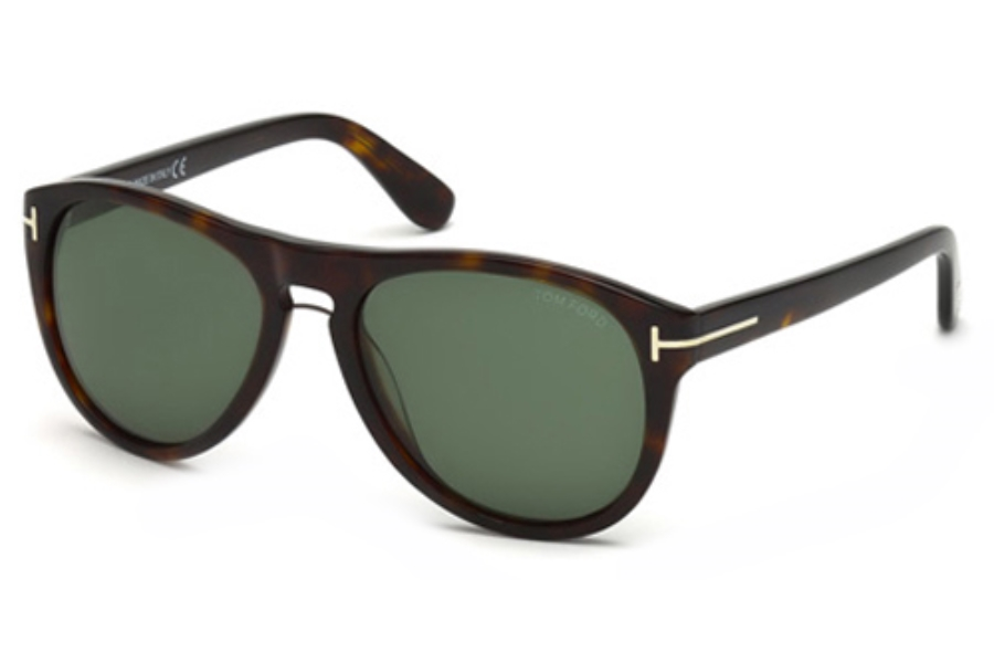 Tom Ford FT9347 Sunglasses in 56R Havana/Other / Green Polarized