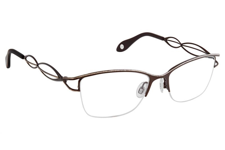 FYSH UK Collection FYSH 3644 Eyeglasses in S202 Brown Gold