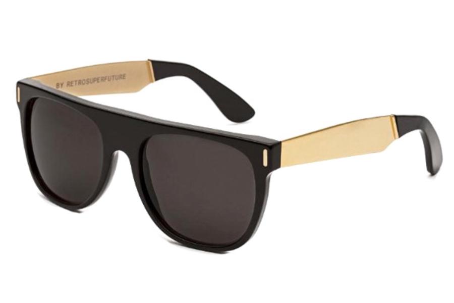 5d52f5ba22f5 Super Flat Top IHJU NIM Francis Black/Gold Large Sunglasses in IHJU-NIM  Francis ...