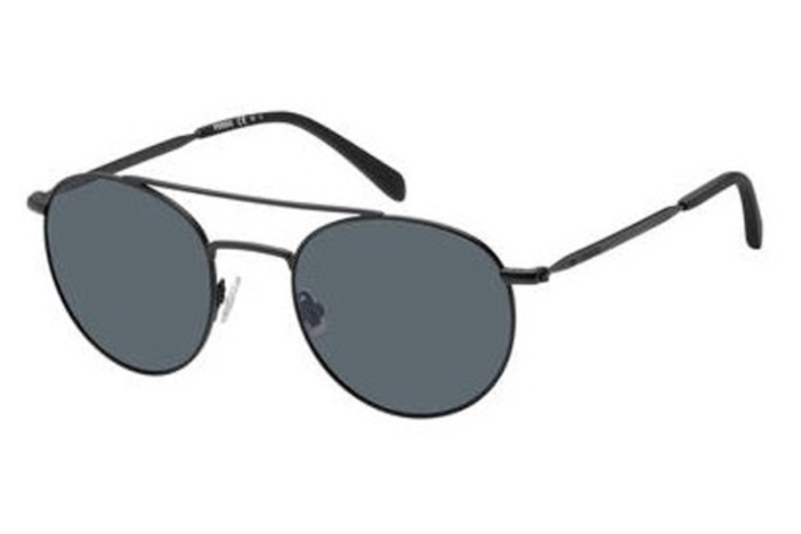Fossil FOS 3069/S Sunglasses in 0003 Matte Black (IR gray blue pz lens)