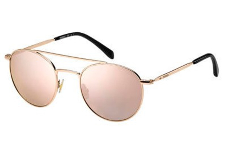 Fossil FOS 3069/S Sunglasses in 0AU2 Red Gold (0J gray rose gold lens)